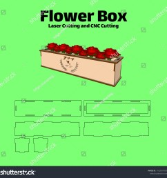 laser cutting flower box without using glue for wood 3 mm [ 1500 x 1489 Pixel ]
