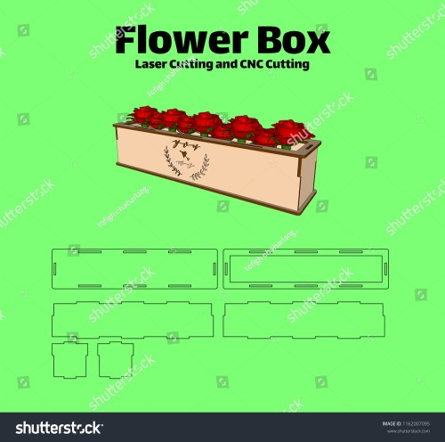 small resolution of laser cutting flower box without using glue for wood 3 mm