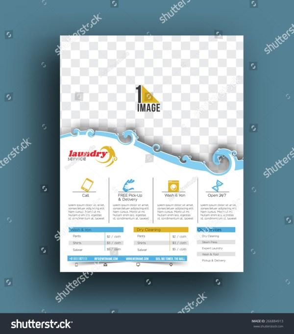 Laundry Service Flyer & Poster Template. Stock Vector Illustration 266884913 Shutterstock