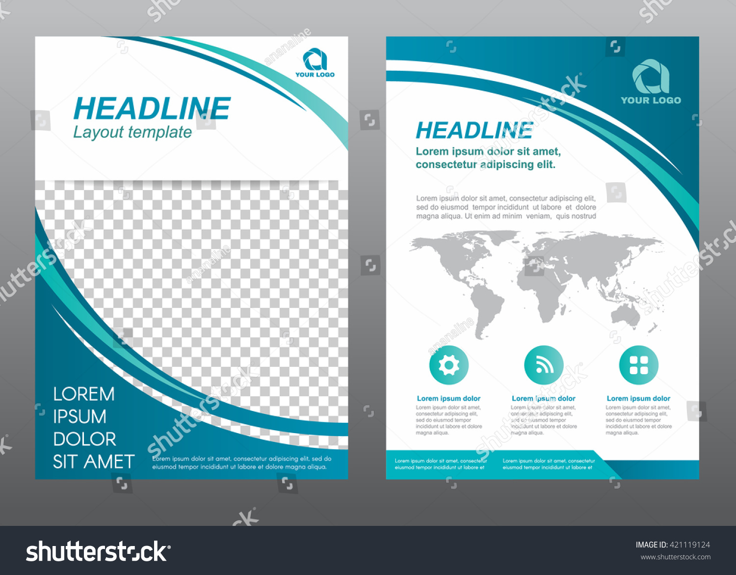 Layout Flyer Template Size A4 Cover Stock Vector 421119124