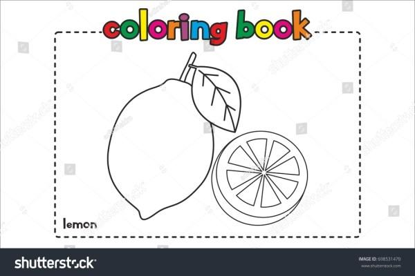 lemon coloring page # 12