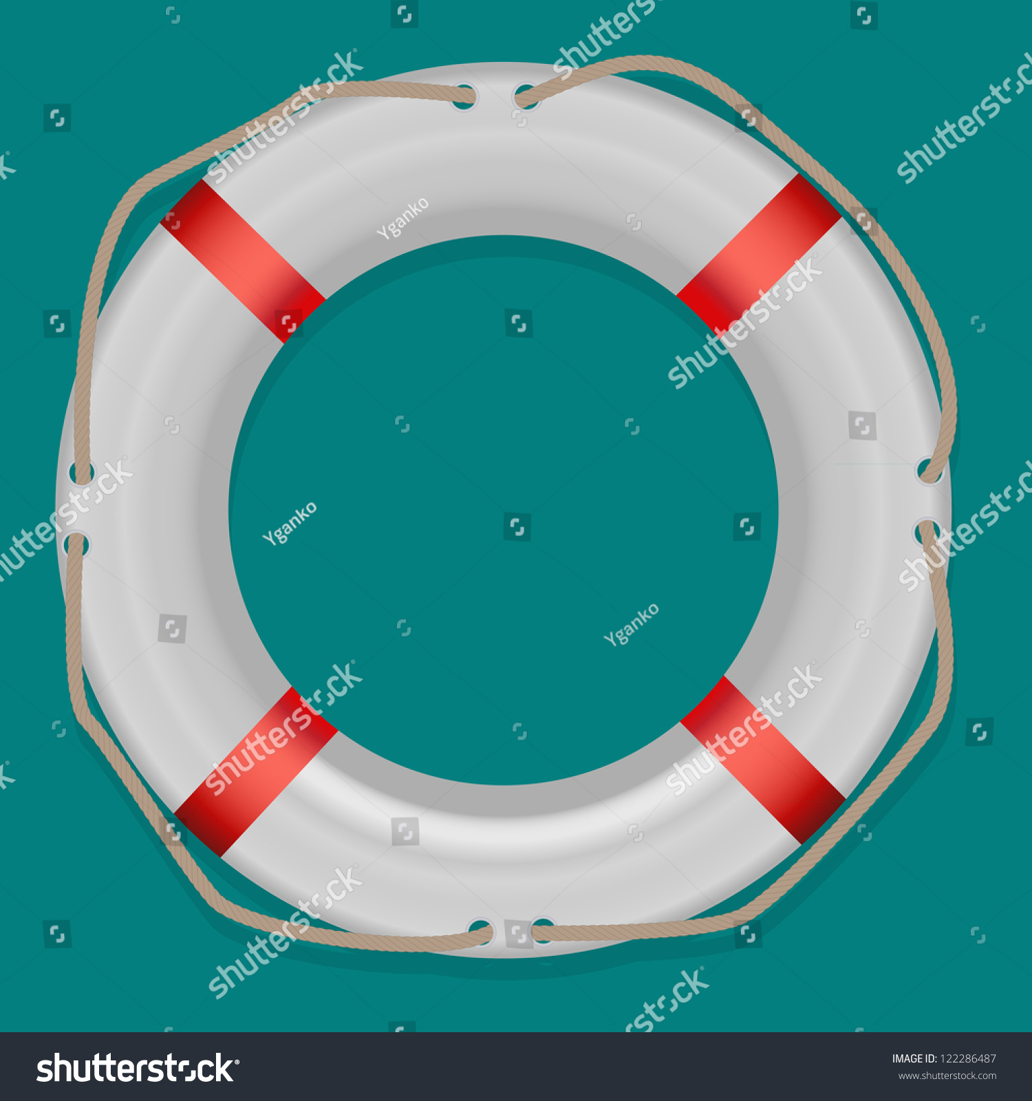 Life Buoy, Isolated On White Background, Vector Illustration - 122286487 : Shutterstock
