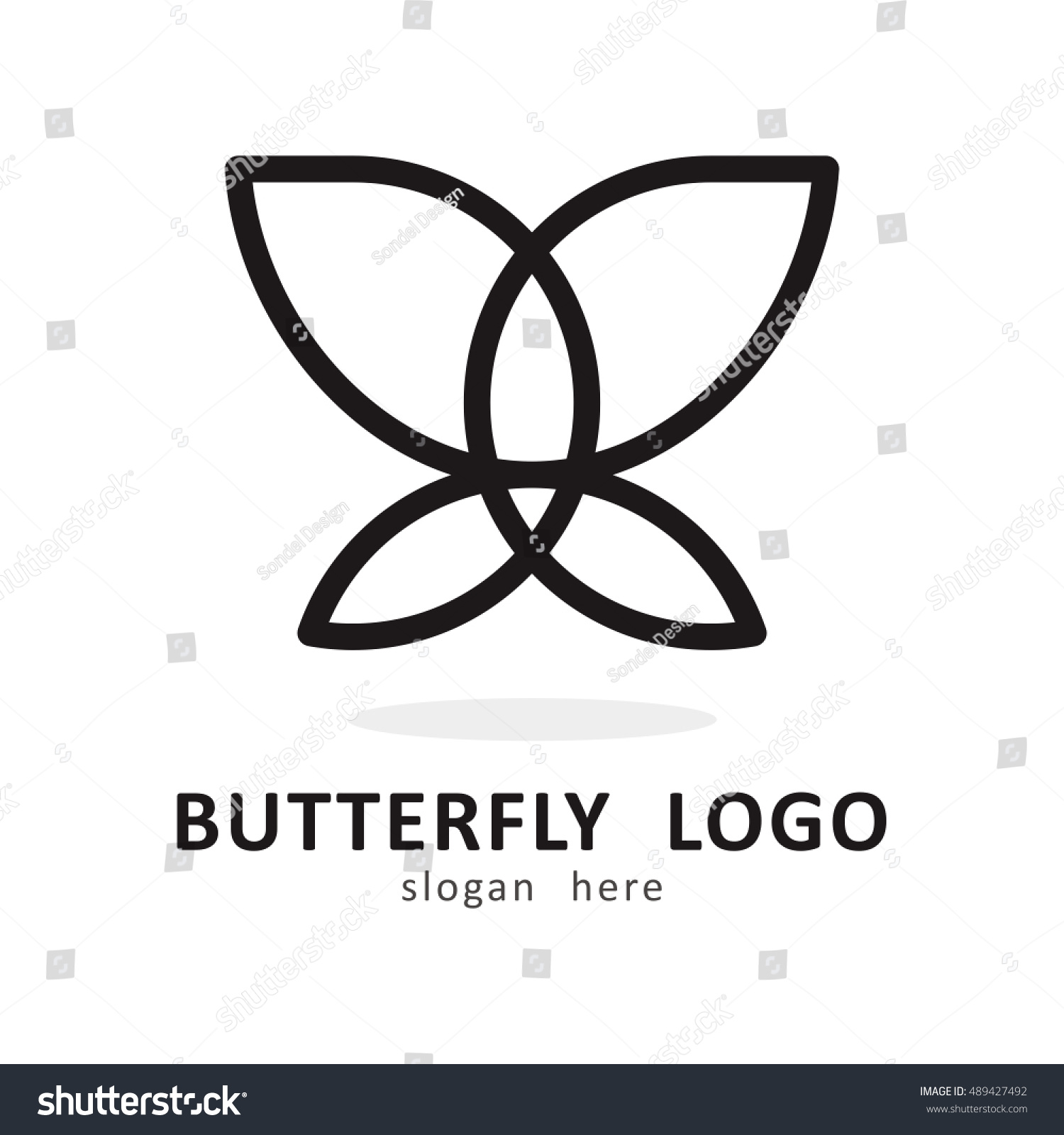 Line Butterfly Template Logo Icon