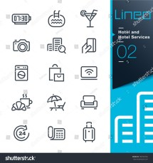 Lineo - Hotel And Services Outline Icons