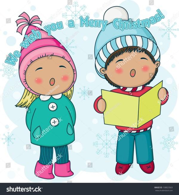little christmas carolers singing