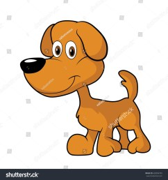 little cute brown cartoon dog clipart [ 1500 x 1600 Pixel ]