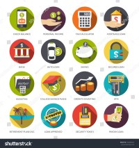 Loan Flat Icons Set Check Balance Stock Vector 292003547 ...