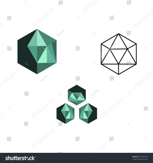 Logo Colour Colours Geometric Shape Shapes Stock Vector