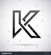 Logo For Letter K. Design Template Stock Vector ...