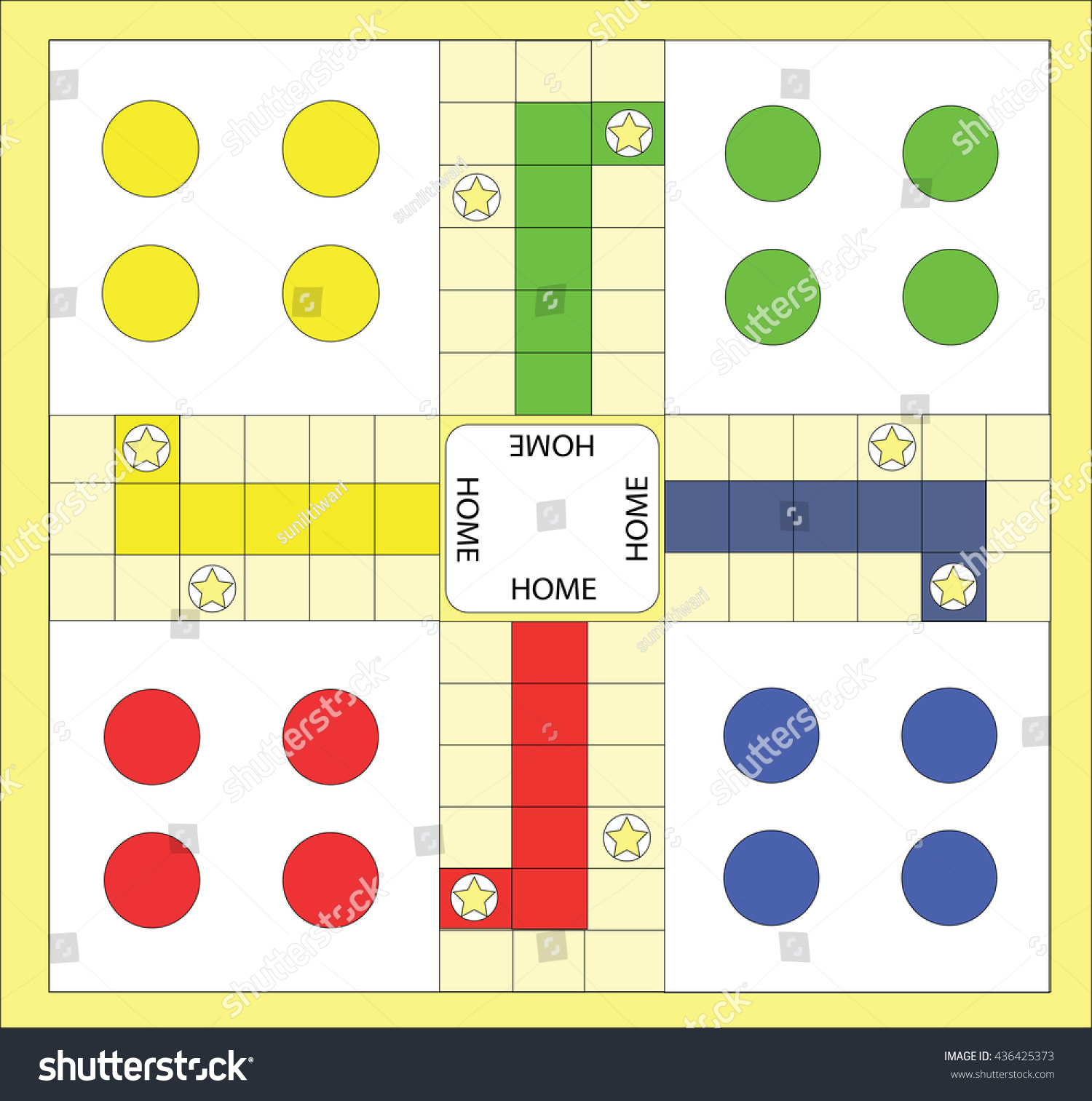 Ludo Board Game Stock Vector