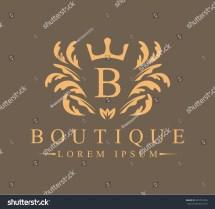 Luxury Heraldic Royal Decoration Boutique Logo Stock
