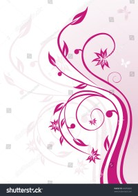 Magenta Floral Pattern On White Background Stock Vector ...