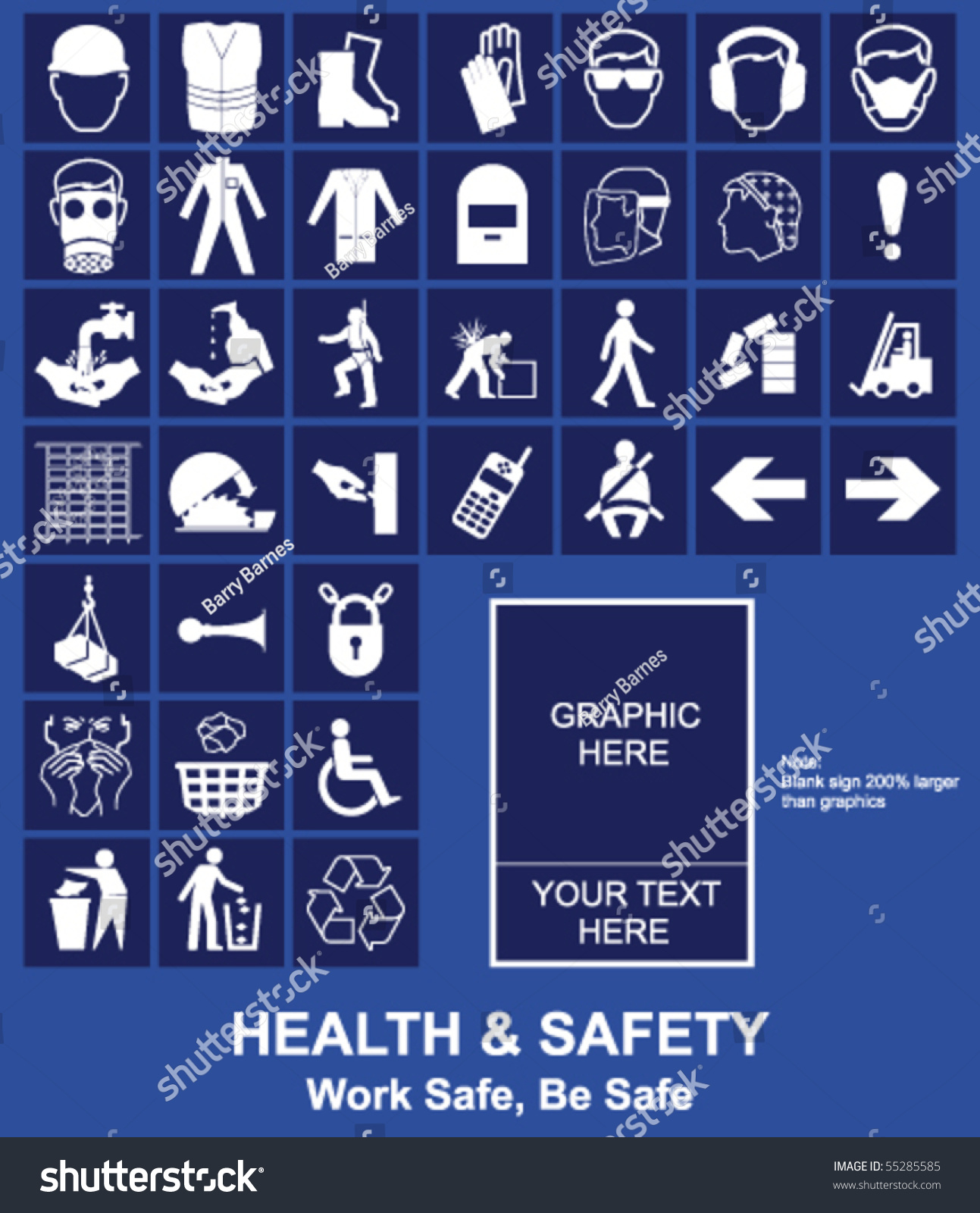 Make Your Own Health Safety Sign Stock Vector
