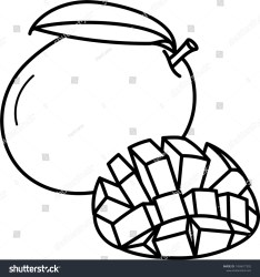 Mango Fruit Whole Icon Outline Style Stock Vector Royalty Free 1456677302