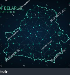 map belarus wire frame 3d mesh polygonal network line design sphere belarus map [ 1500 x 1101 Pixel ]