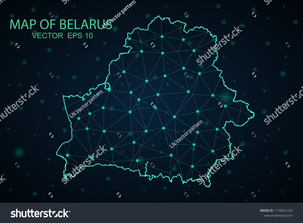 medium resolution of map belarus wire frame 3d mesh polygonal network line design sphere belarus map