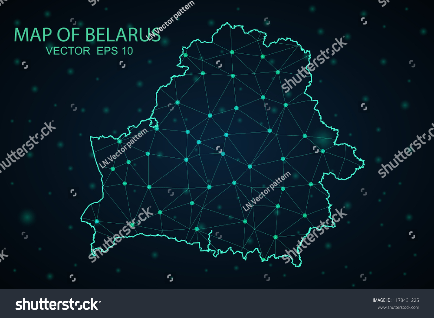 hight resolution of map belarus wire frame 3d mesh polygonal network line design sphere belarus map