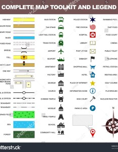 Map icon legend symbol sign toolkit element also stock vector royalty free rh shutterstock