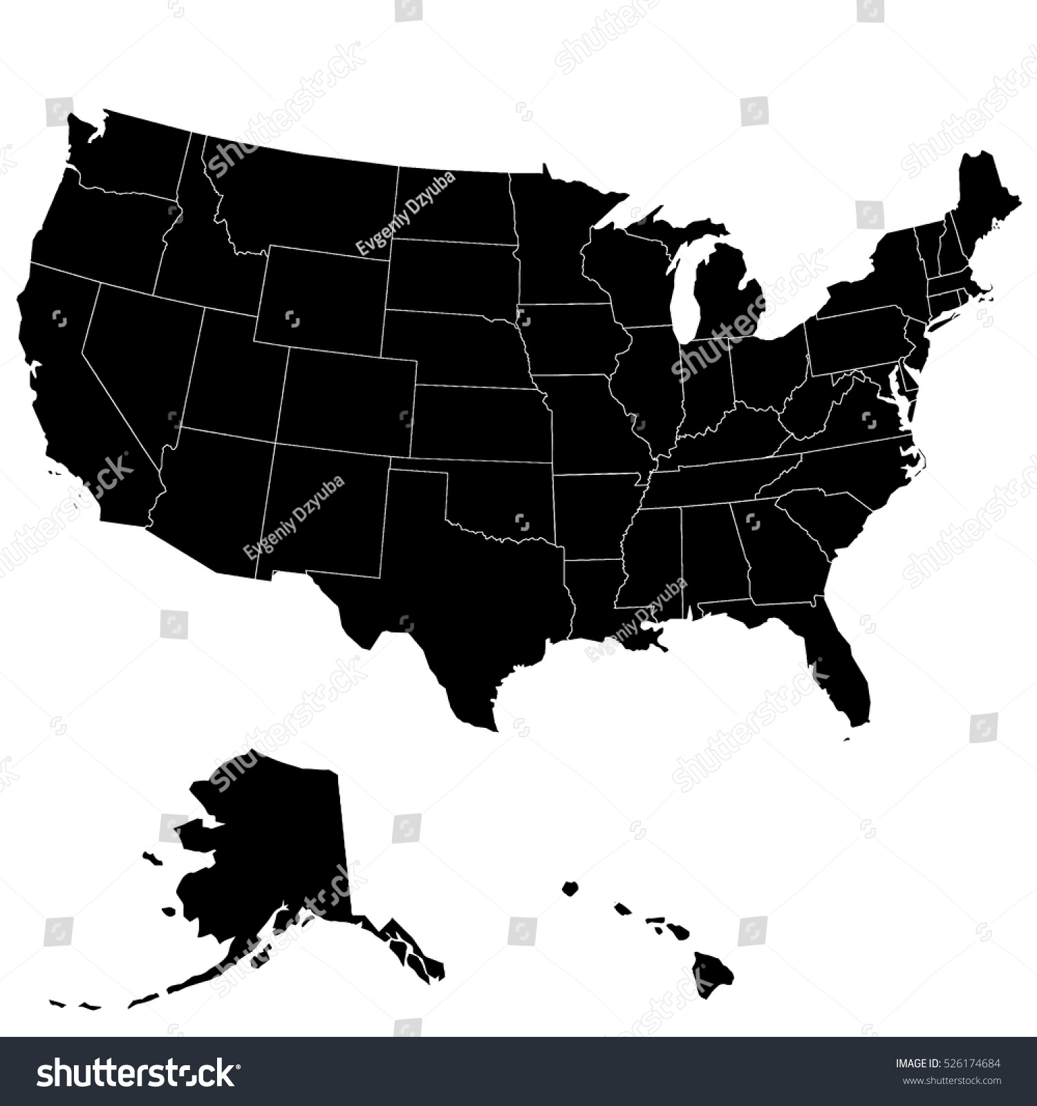 """You probably woke up this morning with big plans to """"really make some changes this year,"""" but you know what? Map United States America High Accuracy Stock Vector Royalty Free 526174684"""