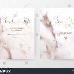 Marble Wedding Invitation Cards Rose Gold Stock Vector Royalty Free 1130547923