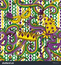 Mardi Gras Seamless Pattern Colorful Background Stock ...