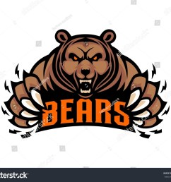mascot grizzly bear logo template illustration [ 1500 x 1284 Pixel ]