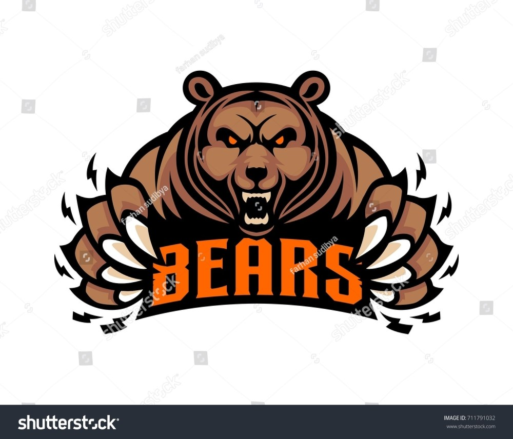 medium resolution of mascot grizzly bear logo template illustration