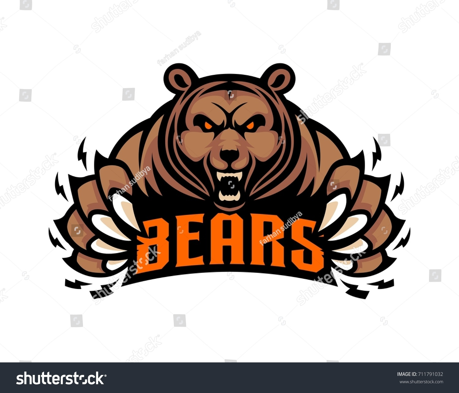 hight resolution of mascot grizzly bear logo template illustration