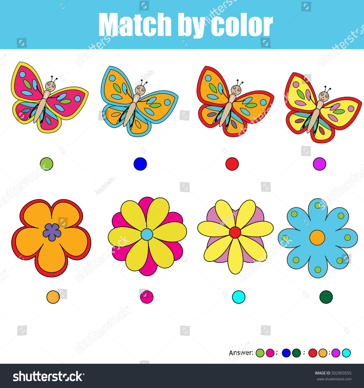 Matching Pairs Worksheet
