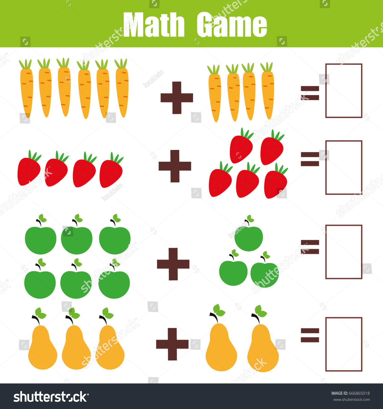 52 Math Worksheets For Kindergarten Free Download