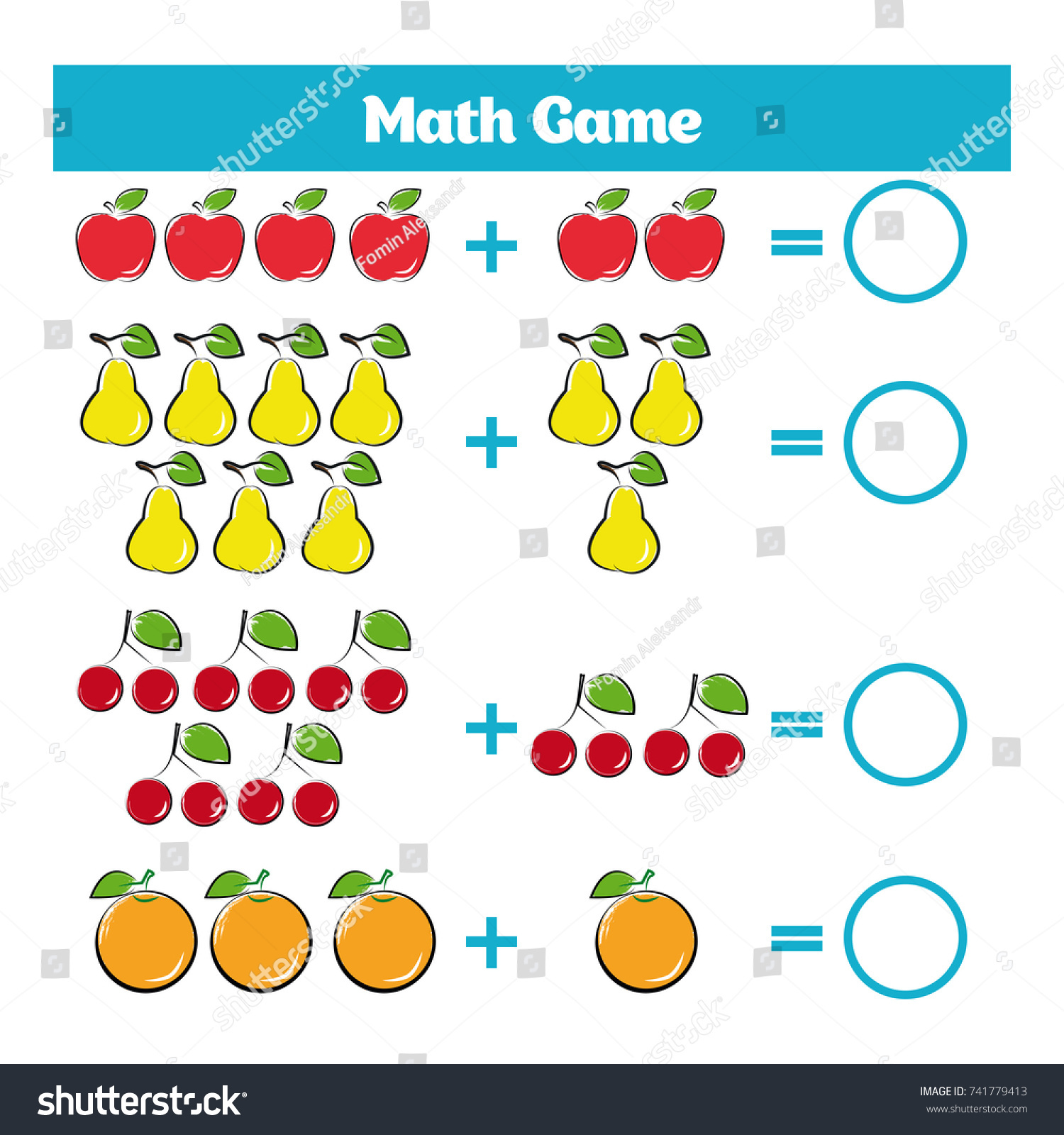 Mathematics Educational Game Children Learning Subtraction