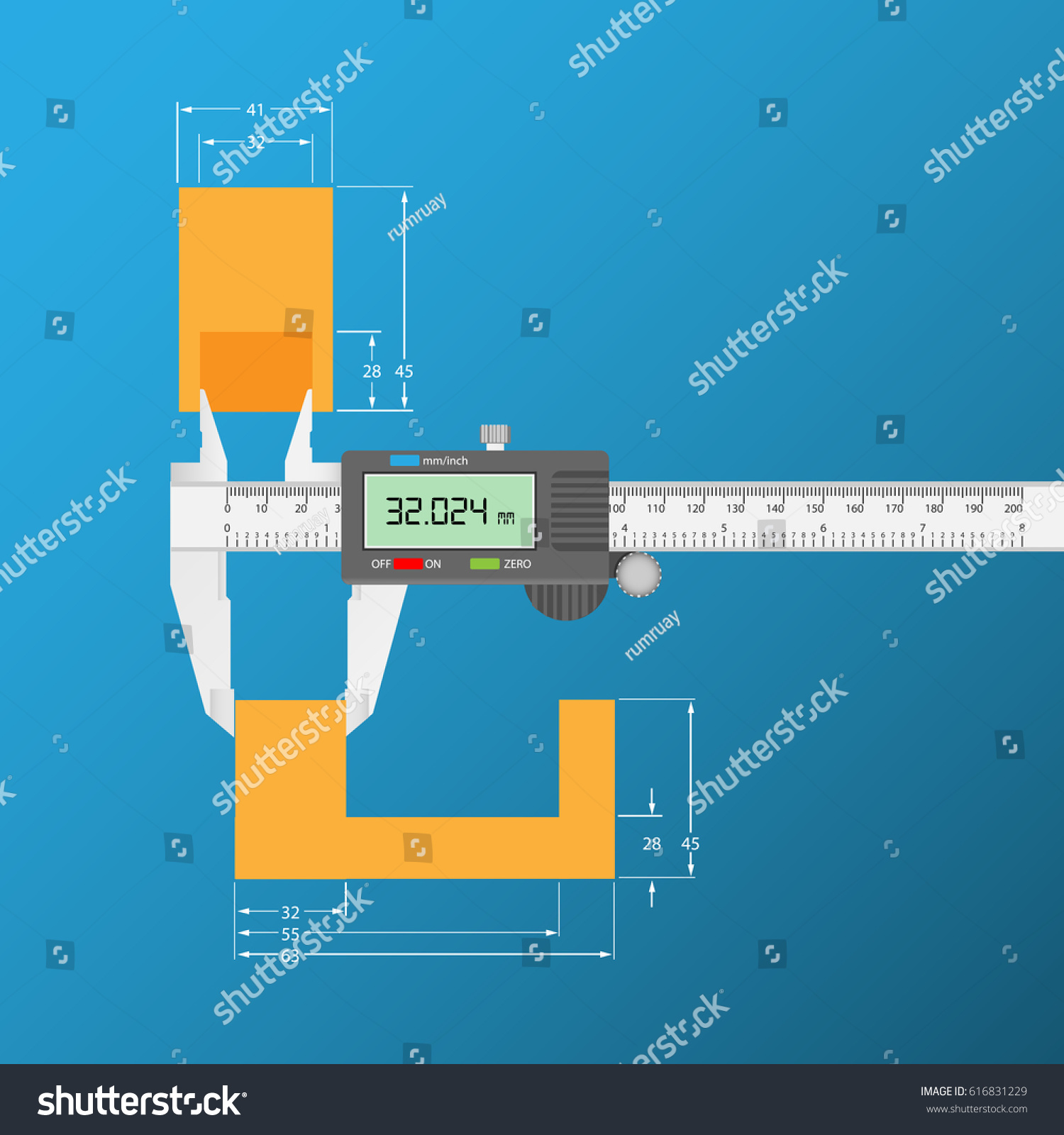 hight resolution of measurement with vernier caliper