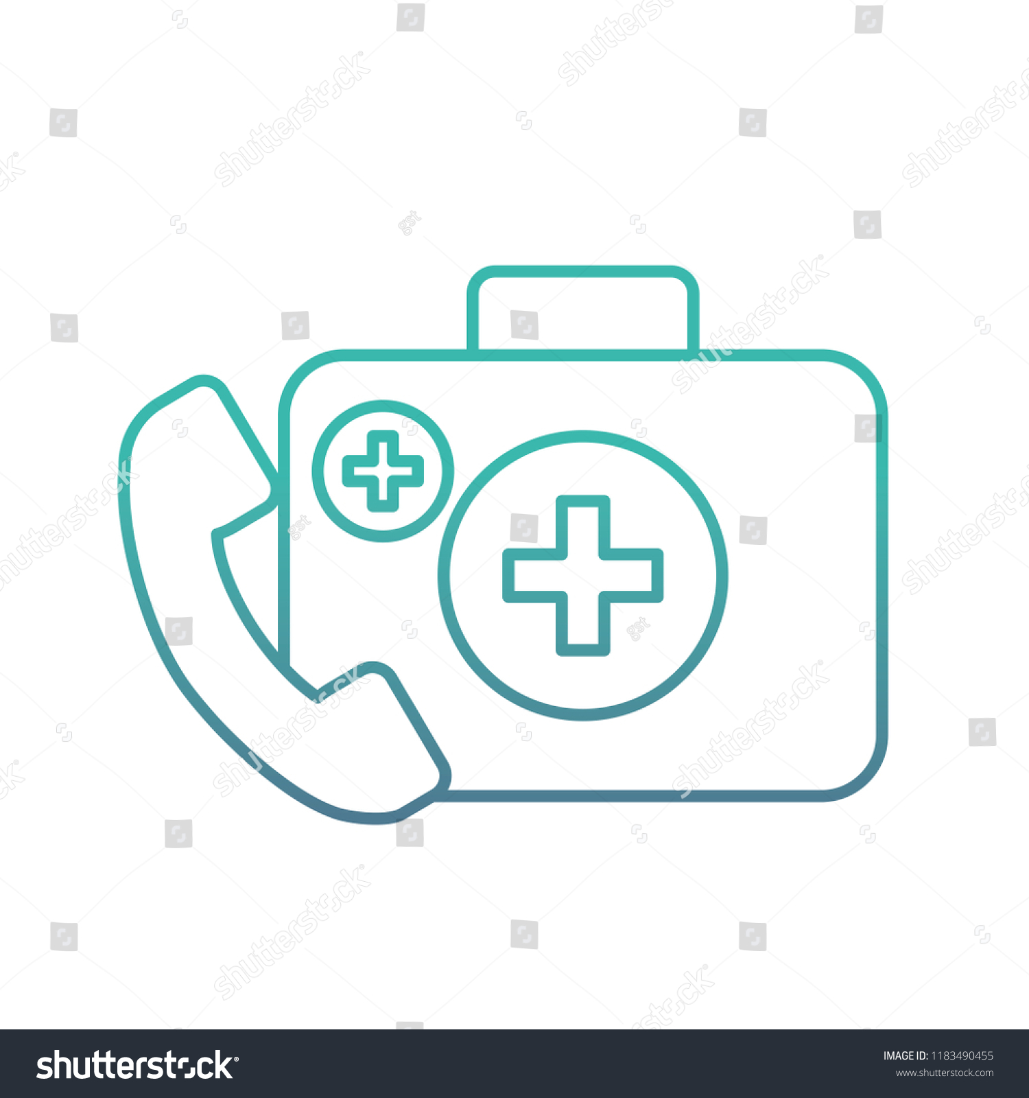 hight resolution of medical telephone service kit first aid