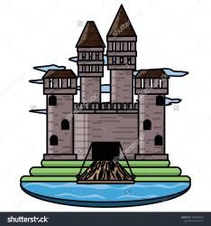 Medieval Castle Design Stock Vector Royalty Free 1008498316