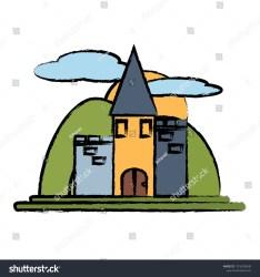 Medieval Castle Design Stock Vector Royalty Free 1016259040