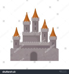 Medieval Fantasy Castle Great Royal Fortress Stock Vector Royalty Free 1192163419