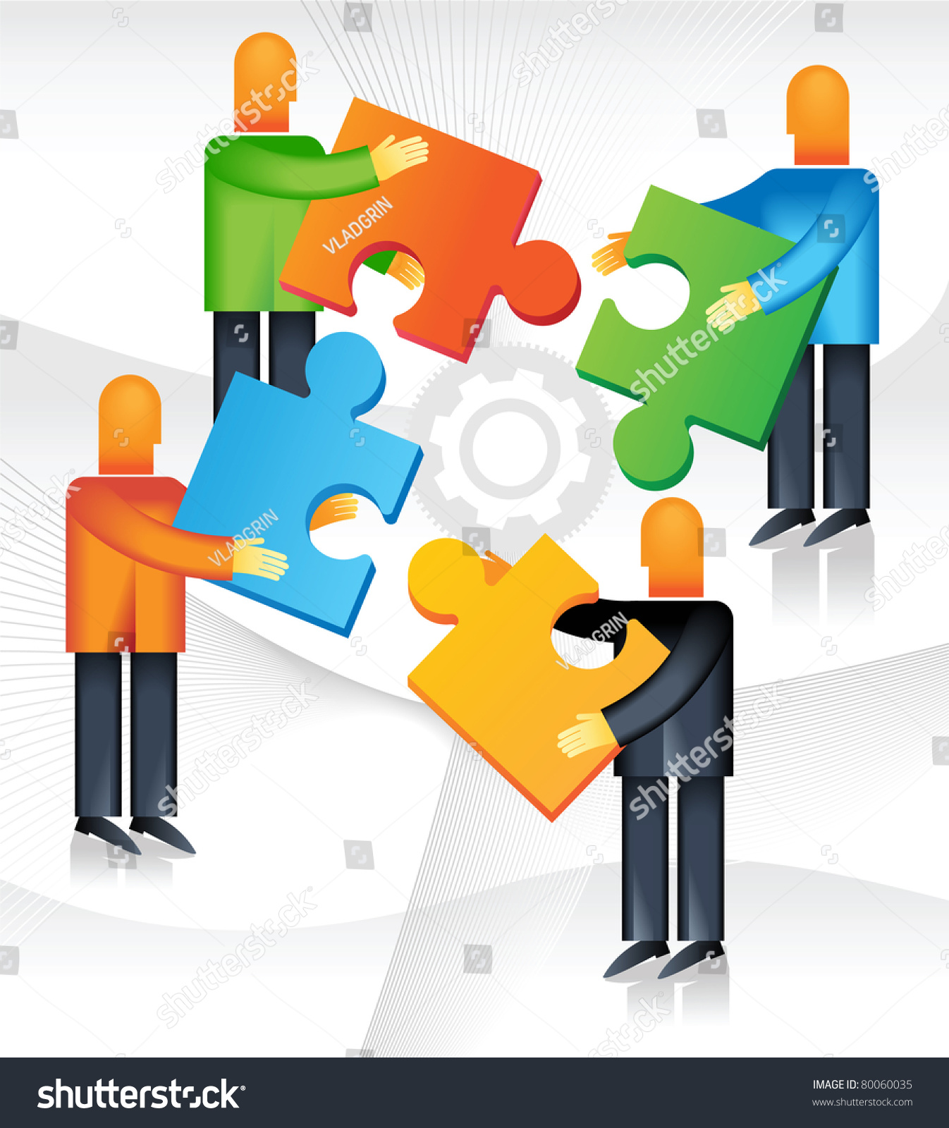 Men Joining Together To Form One Team In One Direction.To Achieve One Goal Stock Vector Illustration 80060035 : Shutterstock