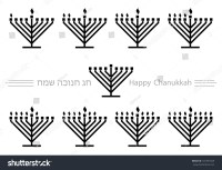 Lighting the Menorah Candles Clip Art  Cliparts