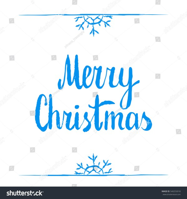 merry christmas calligraphy clipart