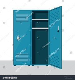 metal school locker vector illustration isolated on white background [ 1500 x 1600 Pixel ]