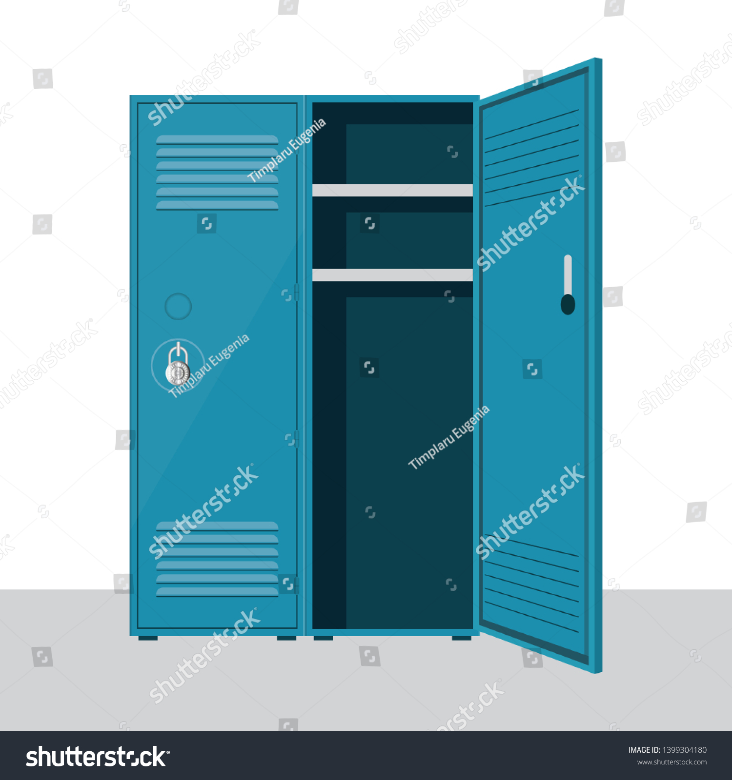 hight resolution of metal school locker vector illustration isolated on white background