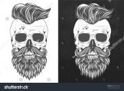 mexican skull design trendy hair