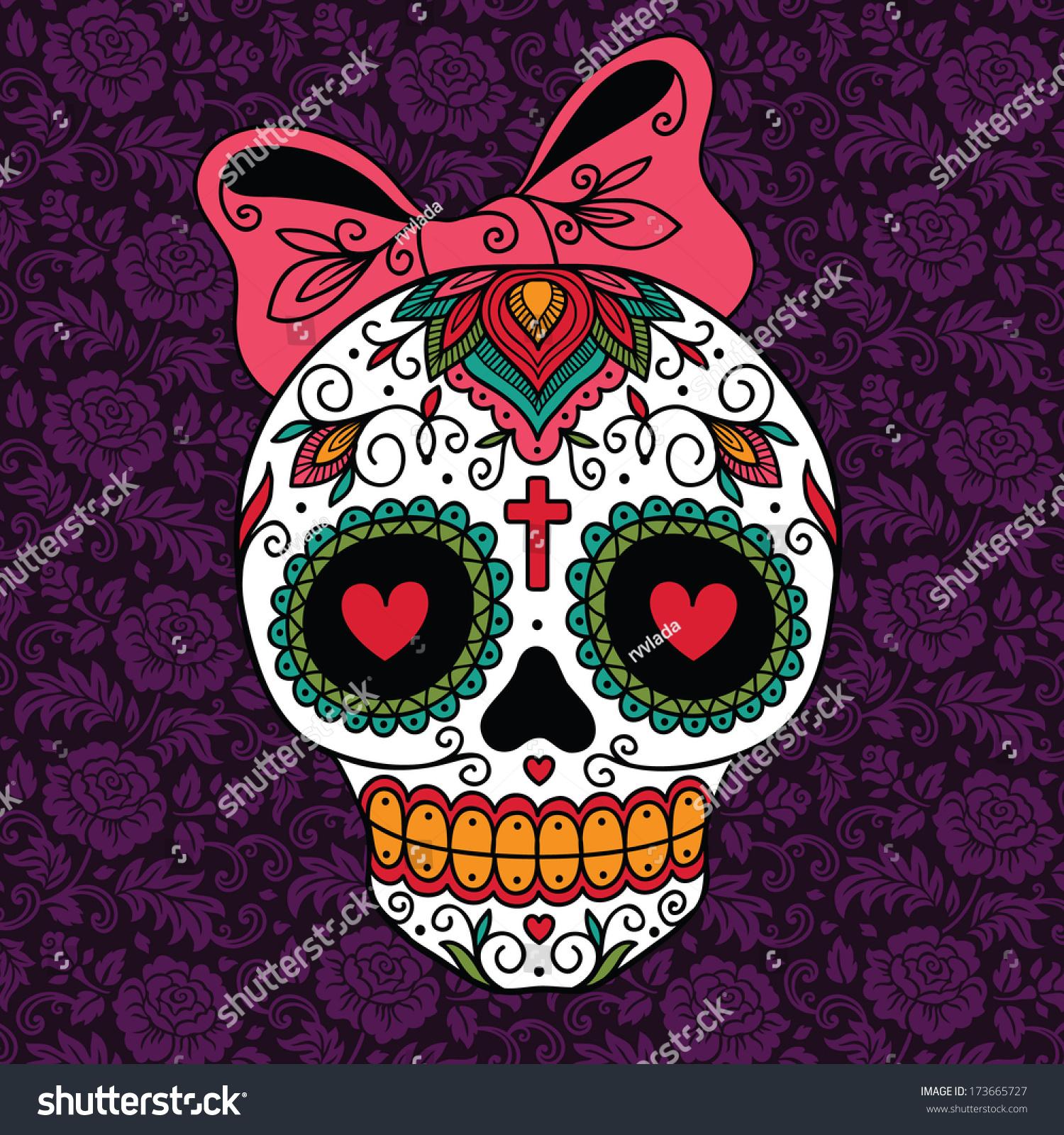 Mexican Sugar Skull Girl