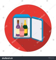 Minibar Icon Flat Style Isolated Stock Vector 508039690