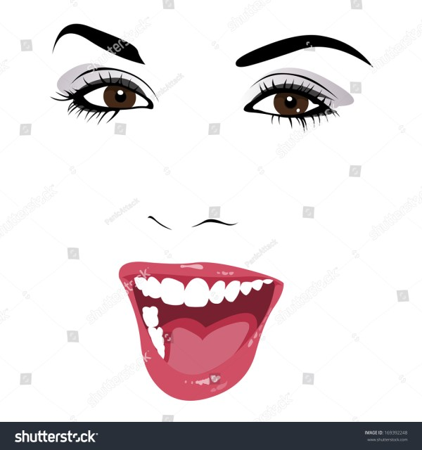 20 Black And White Outline Drawing Open Mouth Pictures And Ideas On