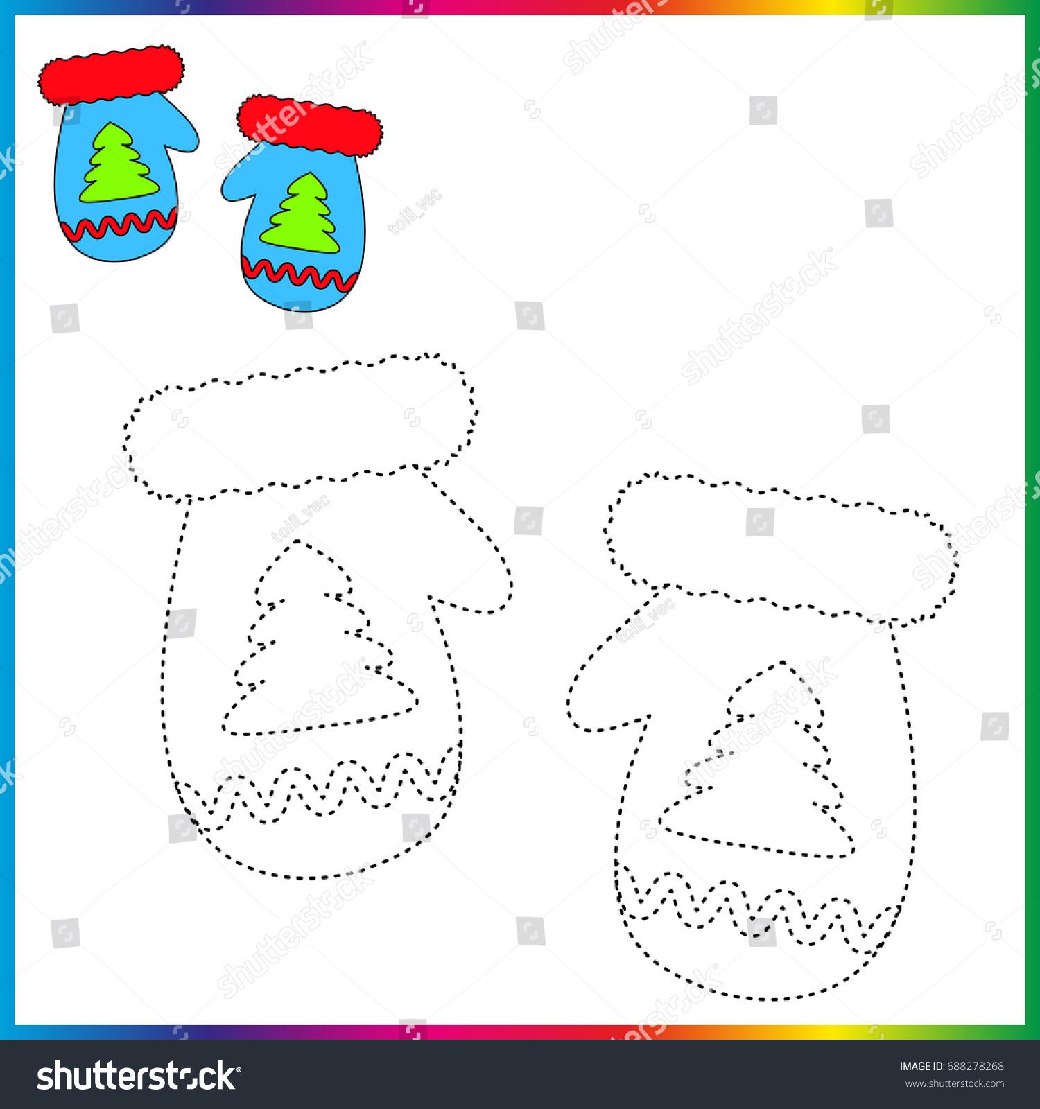 Mitten Preschool Tracing Worksheet Mitten Best Free