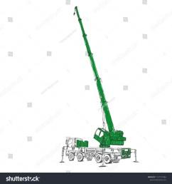 mobile crane sketch  [ 1500 x 1600 Pixel ]