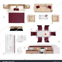 Chair Design Top View Revolving In Kolkata Modern Apartment Living Room Bedroom Bathroom Stock Vector