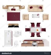Modern Apartment Living Room Bedroom Bathroom Vectores En ...