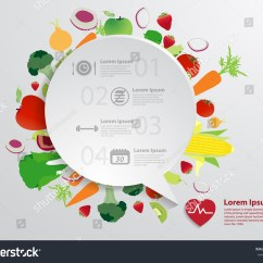 Healthy Food Diagram Dodge Trailer Plug Wiring Modern Business Bubble Speech Template Fruits Stock Vector